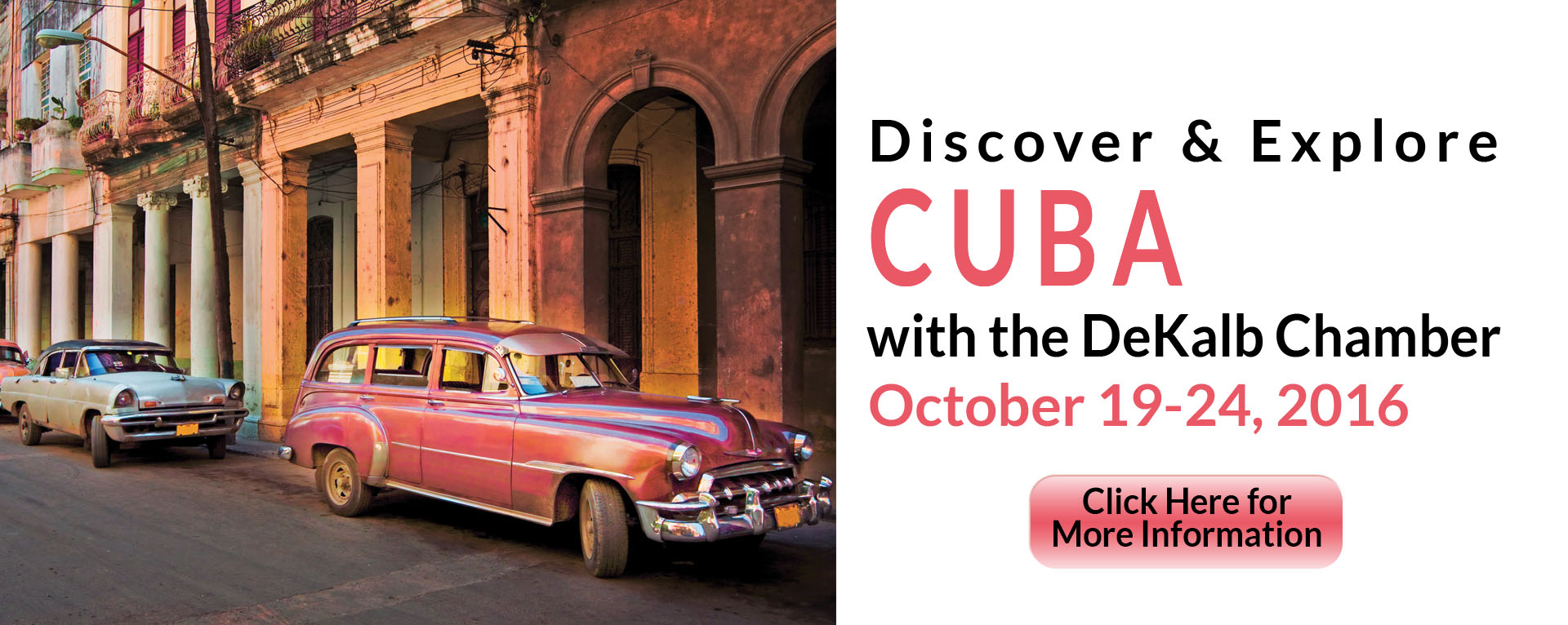 Discover & Explore CUBA with DeKalb Chamber
