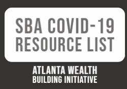 Atlanta Wealth Building Initiative Small Business Resource 4.1.20