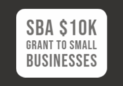 SBA $10K Grant to Small Business