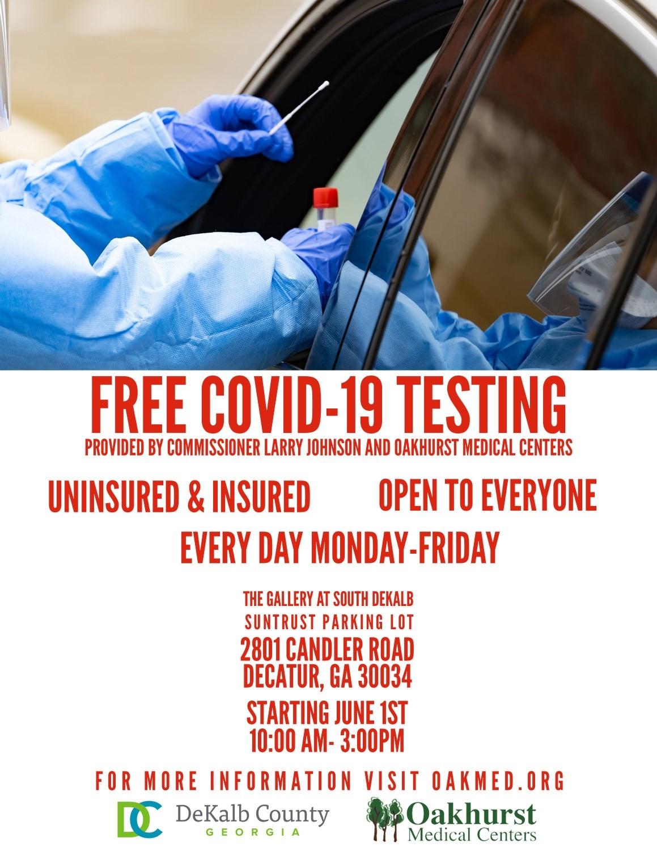 Free COVID-19 Testing Site South DeKalb Mall